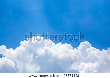 Blue sky and clouds with space for add text above - stock photo