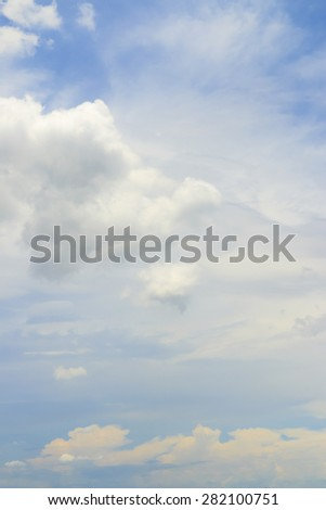 Blue sky and cloudy in summer Thailand. - stock photo
