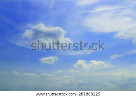 Blue sky and cloudy in Thailand. - stock photo