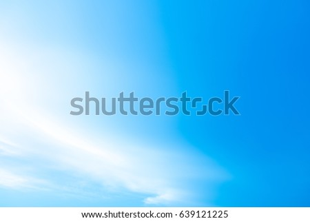Blue sky and cloudy with lighting  background in the morning.