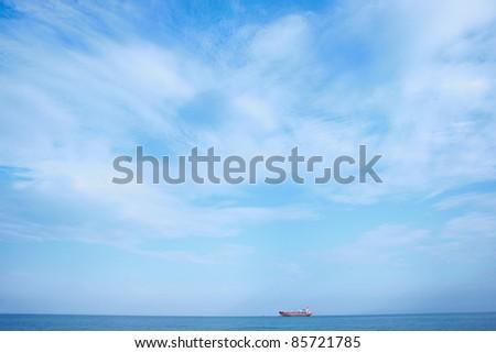 Blue sky and sea - stock photo