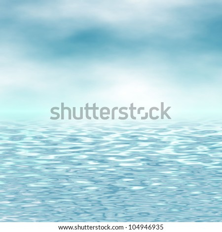blue sky and sea background