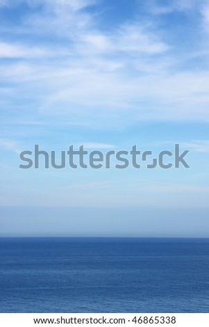Blue sky and sea. Useful as background - stock photo