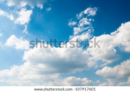 blue sky and some clouds - stock photo