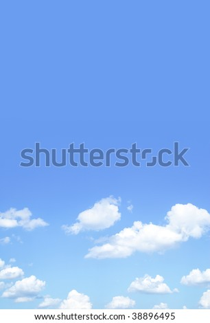 Blue sky and space for you own text - stock photo