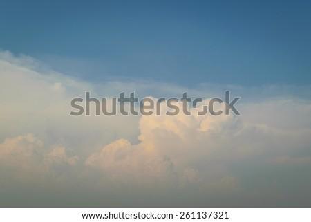 Blue sky and sunlight - stock photo