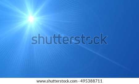 Blue Sky and Sunshine Background