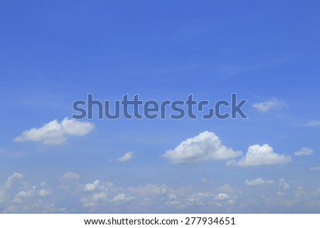 Blue sky and white cloud for background decoration. - stock photo