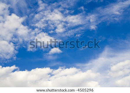 Blue sky and white clouds in summer