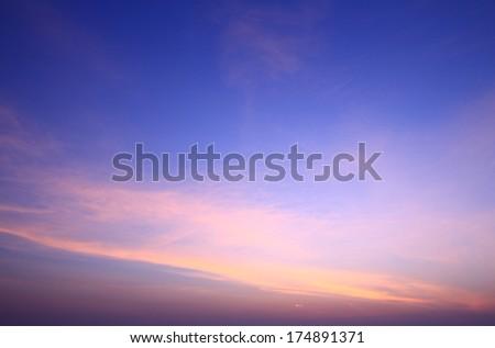Blue sky at dawn - stock photo