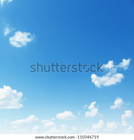 Blue sky background. - stock photo