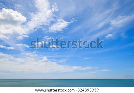 Blue-sky background. - stock photo