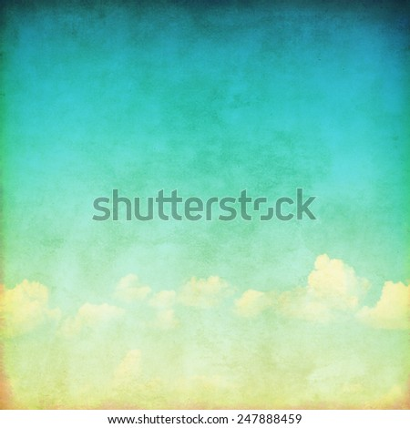 Blue sky background in grunge style. - stock photo