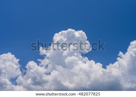 blue sky background with a Big cloud