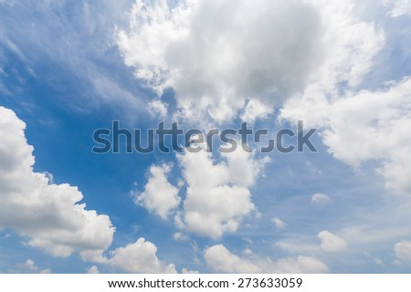 blue sky background with cloudy - stock photo