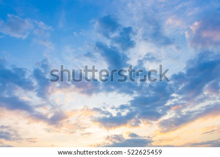 blue sky background with evening clouds