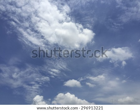 blue sky background with tiny clouds and clouds