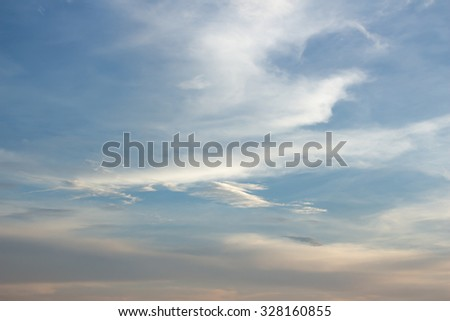 blue sky background with tiny clouds. Beautiful the sky