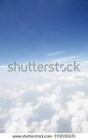 blue sky background with white clouds .