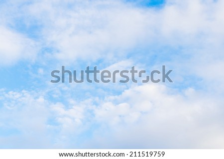 Blue sky, Blue sky background with tiny cloud.