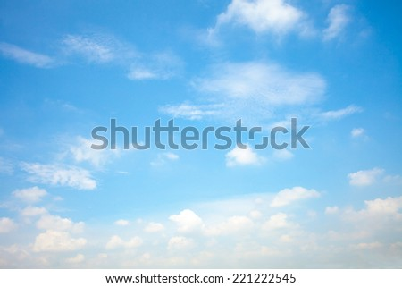 Blue sky cloud and as natural background