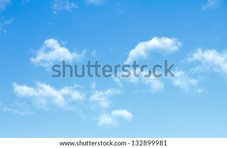 blue sky clouds - stock photo