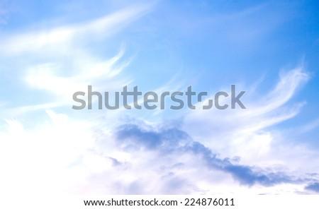 blue sky clouds - stock photo