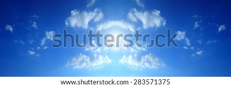 blue sky clouds,Blue sky with clouds.  - stock photo