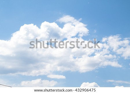 blue sky clouds, day landscape