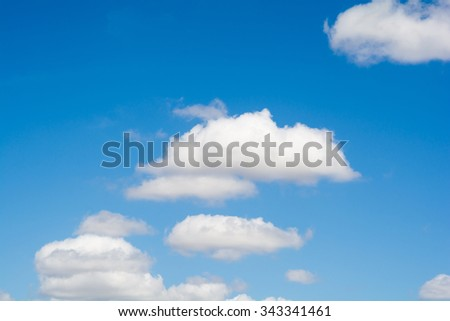 Blue sky clouds in the day - stock photo