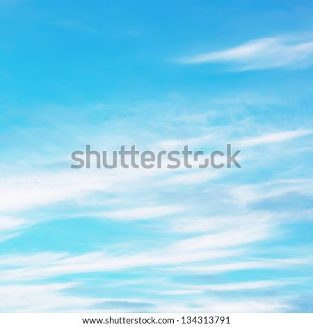 Blue sky covered by clouds - stock photo