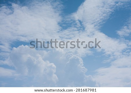 Blue Sky daylight - stock photo