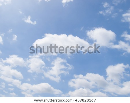 Blue sky daylight. Natural sky with cloudy composition. - stock photo