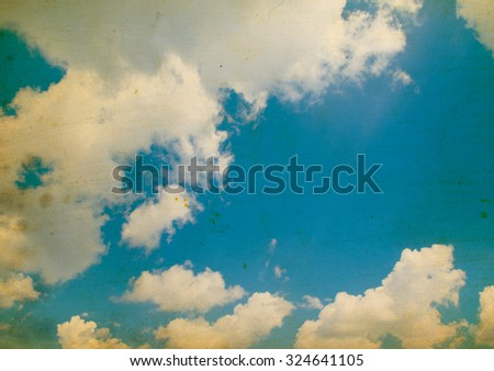 Blue sky grunge background