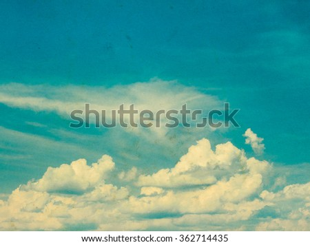 Blue sky grunge background - stock photo