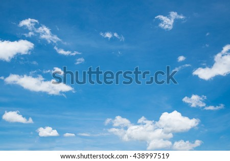 Blue Sky in summer for background - stock photo