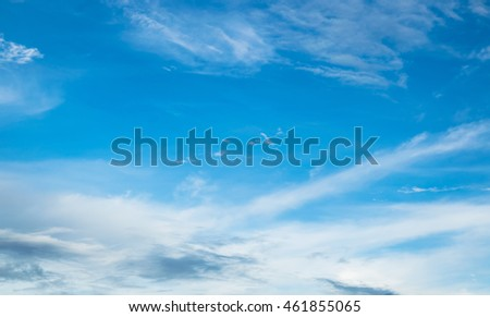 Blue Sky in summer for background