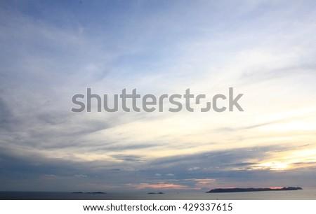 Blue sky in Twilight  - stock photo