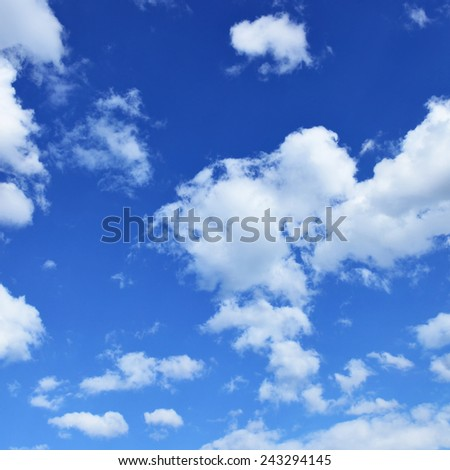Blue sky, may be used as background - stock photo