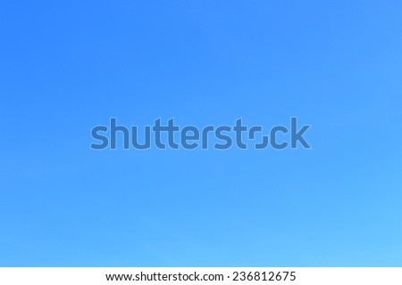 blue sky only  no cloud and sunshine - stock photo