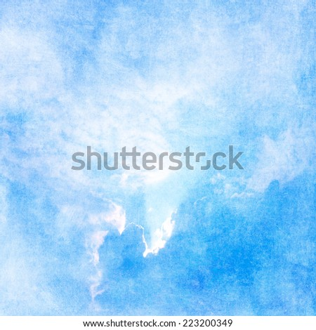 Blue sky pastel background - stock photo