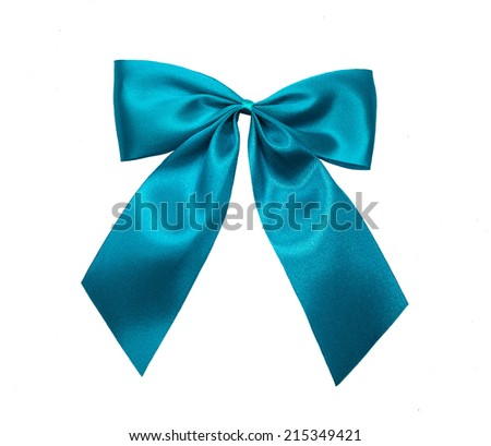 blue sky ribbon bow