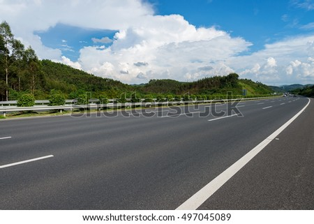 Blue sky, the endless highway