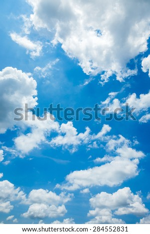 blue sky white cloud cloudy day - stock photo