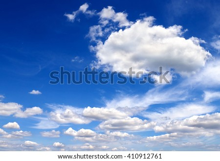 Blue sky with a clouds - stock photo