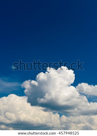 blue sky with beautiful white clouds - stock photo