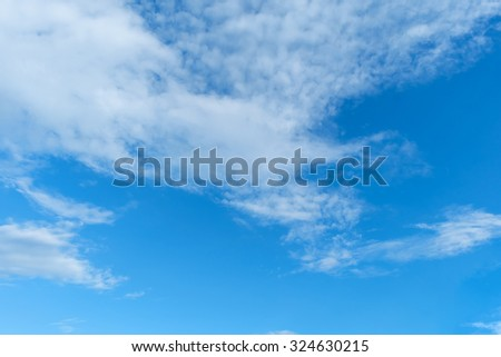 Blue sky with cloud - stock photo