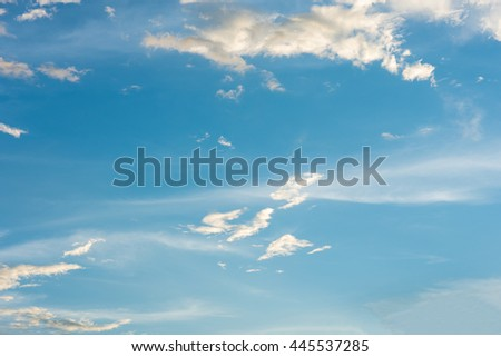 blue sky with cloud