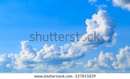 blue sky with cloud background - stock photo