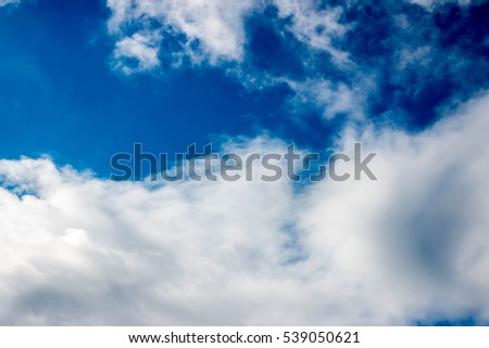 blue sky with cloud background.photo